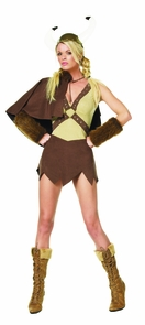 Women's Sexy Viking Dress Set Costume
