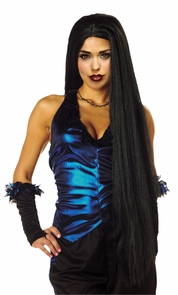 Wig 36 Inch Long Black Costume