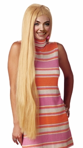 Wig 36 Inch Long Blonde Costume
