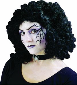 Wig Curly Party Black Costume