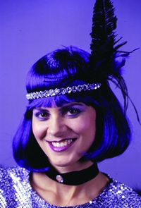 Wig Fashion Dark Purple Costume