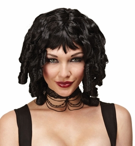 Wig Ghost Doll Black Costume