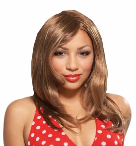 Wig Glamour Gal Brown Costume