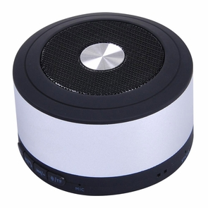 Wireless Rechargeable Mini TF Bluetooth Speaker Silver