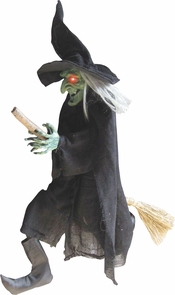 Witch Hanging On A Broom Costume