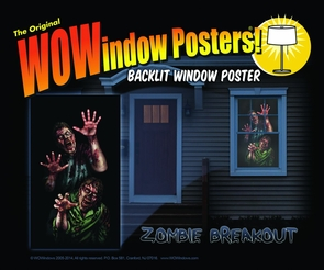 Zombie Breakout Window Poster Costume