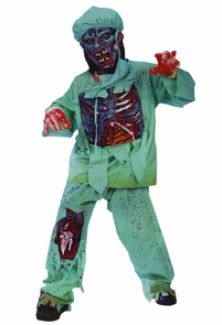 Zombie Doctor Child Small Costume