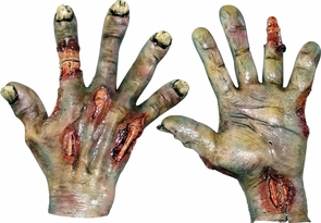 Zombie Rotted Latex Hands Costume