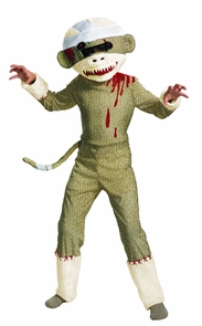 Zombie Sock Monkey 7-8 Costume