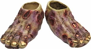 Zombie Undead Latex Feet Costume