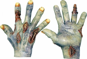 Zombie Undead Latex Hands Costume