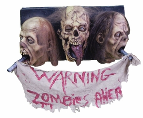 Zombie Wall Plaque 3 Faced Costume