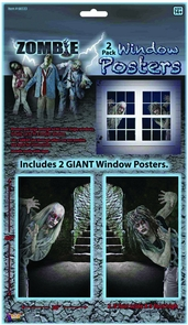 Zombie Window Clings Costume