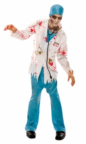 Zombie Zone Dr Rotten Adlt Lg Costume