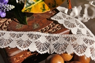 "1 1/2"" Off White Lace Trim"