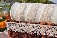 "1 1/8"" Off-White Lace Trim #lace-127"