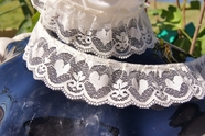 "1 3/8"" Natural Heart Ruffled Lace Trim #lace-76"