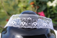 "1"" White Vintage Lace Trim"