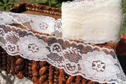 "2-1/2"" Off White Vintage Big Floral Lace Trim"