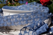 "2 1/4"" Dusty Blue Lace Trim #lace-91"