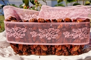 "2-1/4"" Dusty Rose Vintage Lace Trim"