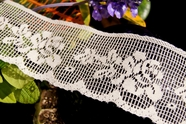 "2 1/4"" Natural Floral Lace Trim"