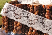 "2 1/4"" Natural Floral Lace Trim #lace-85"