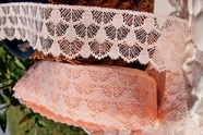 "2-1/4"" Peach Vintage Lace Trim"