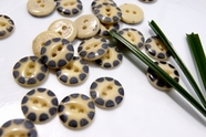 "2 Hole Vintage Ceramic Buttons 5/8"" (10 pcs)"