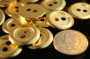 "2 Hole Vintage Gold Buttons ÷ 7/8"" inch (10 pcs)"