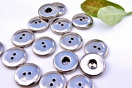 "2 Hole Vintage Silver Metal Buttons 3/4"" inch (10 pcs)"