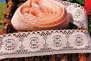 "2"" Peach Vintage Floral Lace Trim"
