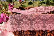 "3-1/2"" Dusty Rose Vintage Floral Lace Trim"