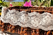 "3 3/4"" Natural Floral Lace Trim #lace-115"