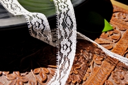 "3/4"" Natural Floral Lace Trim #lace-125"