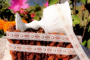 "3/4"" Natural Peach Floral Lace Trim #lace-108"