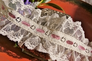 "3"" Rose Off-White Floral Ruffled Lace Trim #lace-92"