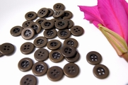 "4 Hole Vintage Metal Buttons 5/8"" inch (10 pcs)"