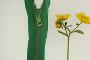 "6"" Green Metal Zipper"