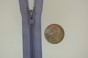 "7"" Light Perwinkle Blue Zipper"