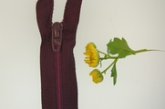 "7"" Wine Purple Zipper"