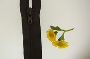 "8"" Black Zipper"