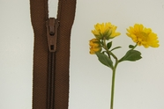 "8"" Brown Zipper"