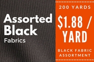 Black Fabric Assortment 200 yards