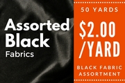 Black Fabric Assortment 50 yards