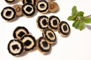 "Black Ivory Gold Vintage Shank Fashion Buttons 11/16"" inch (15 pcs)"