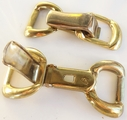 Brass Metal Clip on Buckle Pair for Bag Straps or Belts (2 pairs)