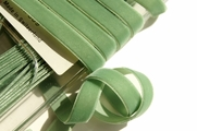 Celadon Green Swiss Velvet Ribbon 9mm