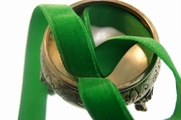Christmas Green French Velvet Ribbon Trim 16mm