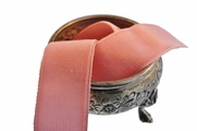 Coral Pink French Velvet Dress Ribbon Trim 24mm